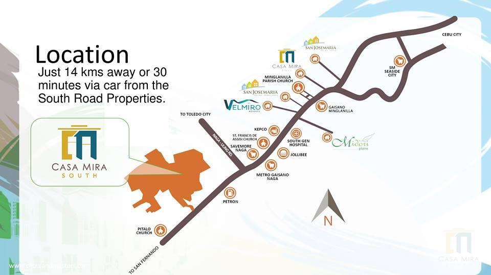 Casa Mira Naga Location Map